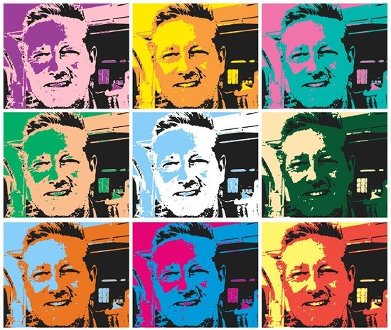Charlie Overend in pop art style