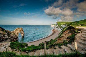 Cornwall beach scene